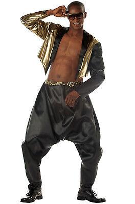 Old School Rapper Mens MC Hammer Costume Adult Halloween Costume](New School Celebrity Halloween)