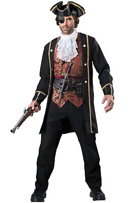 Brand New Captain Scurvy Pirate Men Adult Costume - Pirate Costumes For Men