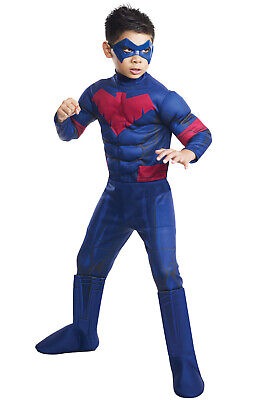 Brand New Deluxe Nightwing Child Costume - Nightwing Costume For Boy