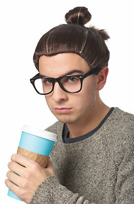 Man Bun Wig - Adult Hipster Costume Accessory