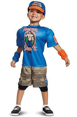 John Cena Toddler Muscle WWE Pro Wrestler Fancy Dress Halloween Child - Professional Wrestler Halloween Costume