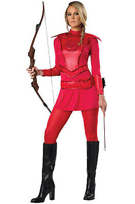 Brand New Hunger Games Red Warrior Huntress Adult - Costumes Hunger Games