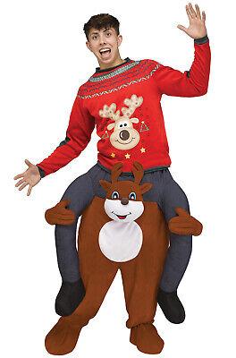 Brand New Carry Me Reindeer Santa Adult Costume](Make Reindeer Costume)
