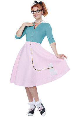 Brand New Grease 50's Hop with Poodle Skirt Halloween Costume - 50's Poodle Skirt Halloween Costume