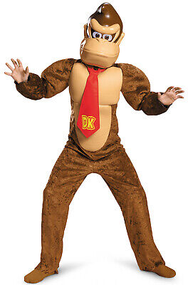 Brand New Super Mario Brothers Donkey Kong Deluxe Child Costume