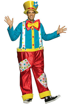Brand New Circus Clown Male Adult Costume