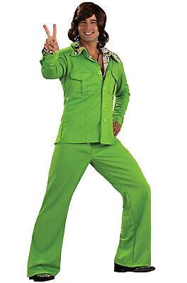 Brand New 1970's Disco Velvet Leisure Suit Men - Green Leisure Suit Kostüm