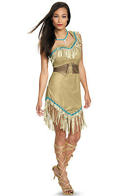 Brand New Disney Princess Pocahontas Deluxe Native American Indian Adult Costume