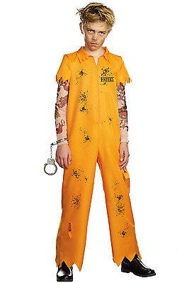 Escaped Convict Prisoner Inmate Boys Child Costume - Boys Convict Costume