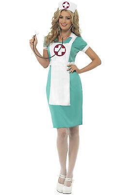 Vintage Medical Doctor Nurse Women Adult Costume - Medical Costume