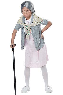 Children's Old Lady Costume (Grandma Bubushka Old Lady Child Costume)