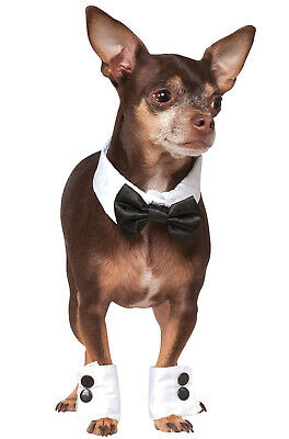 Cat And Dog Costume (Wedding Tuxedo Bowtie and Cuffs Pet Dog Cat Accessory)