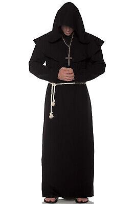 Black Monk Robe (Brand New Religious Monk Robes Adult Costume)