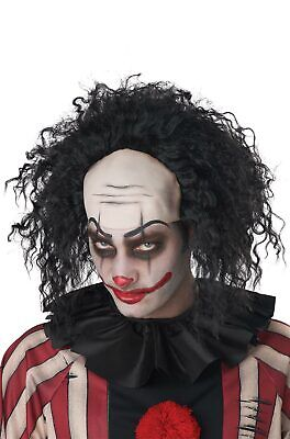 Clown Pattern Baldness Bald Cap Adult Wig (Black) - Black Bald Cap