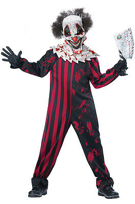 Scary Killer Clown Child Halloween Costume](Scary Clown Kids Costumes)