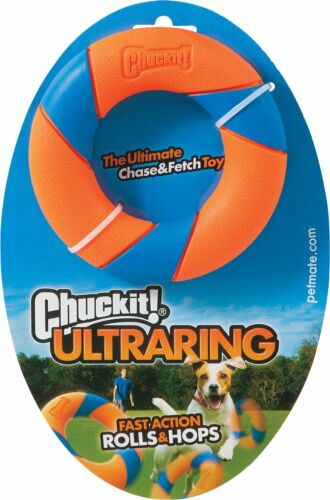 Chuckit+Ultra+Ring+-Chase+erratically+bounce+zigzag+roll+hops+durable+fetch+toy+