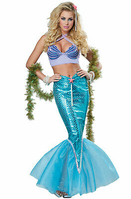 Brand New Deluxe Mermaid Women Adult Costume - Mermaid Costume For Women