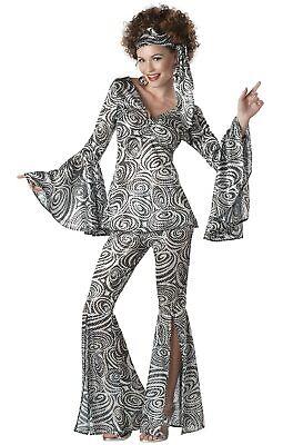 Brand New Disco Foxy Lady 70's Hippy Retro Adult Costume