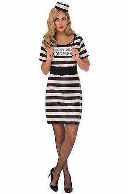 Prisoner Woman Adult Costume Medium Halloween 10-14](Prisoner Costumes Halloween)