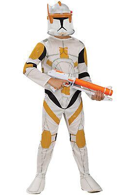 Brand New Star Wars Clone Wars Clone Trooper Commander Cody Child Costume