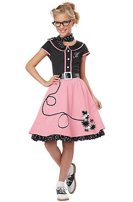 Kids 50s Outfit (50's Sweetheart Poodle Skirt Grease Dress Outfit Child)