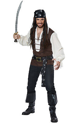 High Seas Adventurer Captain Pirate Buccaneer Adult Costume (Pirate Adult Costume)