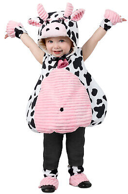 Pink Belly Cow Cute Baby Girl's Infant/Toddler Costume - Baby Cow Costume
