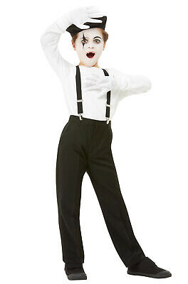 French Mime Child Costume Kit