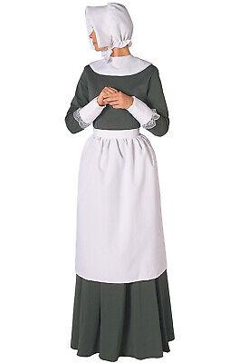 Brand New Colonial Thanksgiving Pilgrim Women Adult Costume - Womens Pilgrim Kostüm