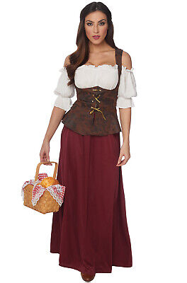 Brand New Renaissance Peasant Lady Adult - Renaissance Lady Adult Kostüm