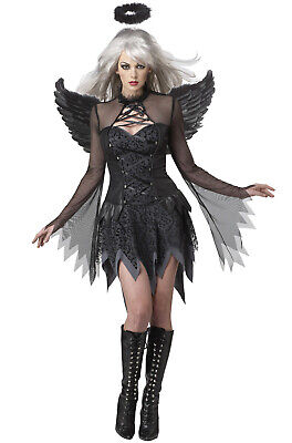 Brand New Sexy Fallen Angel Dark Adult Halloween Costume