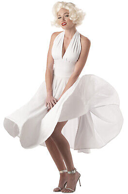 Marilyn Monroe Halloween Costumes (Brand New Sexy Marilyn Monroe White Dress Adult Halloween)