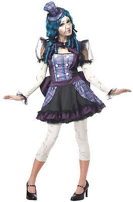 Brand New Broken Doll Rag Doll Puppet Dress Women Adult Costume