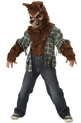 Big Bad Wolf Howling at the Moon Child Halloween Costume (Brown)](Bad Wolf Costume)