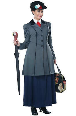 Brand New English Nanny Mary Poppins Inspired Plus Size Costume - Mary Poppin Costume