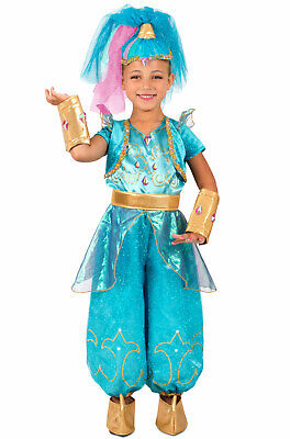 Brand New Shimmer and Shine Shine Genie Twins Child Costume - Genie Child Costume