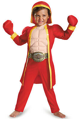 Little Fighter Boxer Champ Muscle Toddler - Boxer Toddler Costume