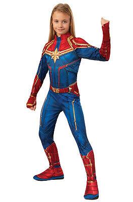 Kids Female Superhero Costumes (Brand New Classic Captain Marvel Child)