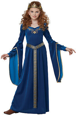 Brand New Renaissance Sapphire Medieval Princess Girls Child - Girls Renaissance Costumes