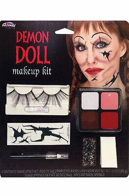 Brand New Demon Broken Doll Face Paint Makeup Kit](Halloween Face Paint Women)