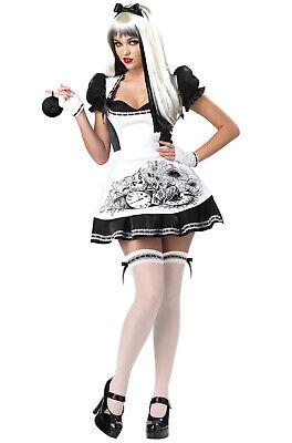 Brand New Sexy Dark Alice in Wonderland Adult Halloween Costume - Alice In Wonderland Dark Costume
