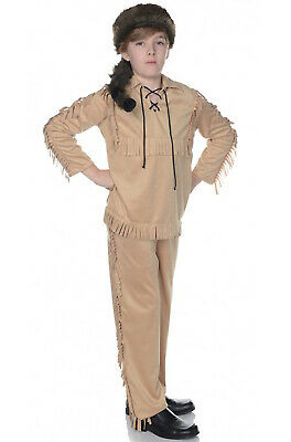 Brand New American Frontier Davy Crocket Child Costume - Davy Crocket Costume