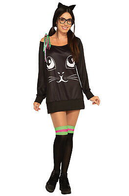Brand New Co-Ed Kitty Black Cat Adult Costume