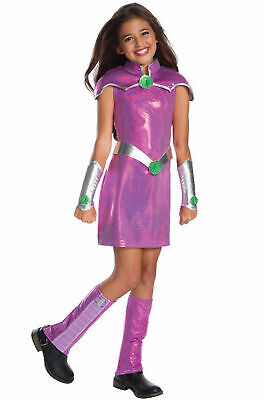 DC Super Hero Girls Deluxe Starfire SMALL 4-6 Halloween Costume