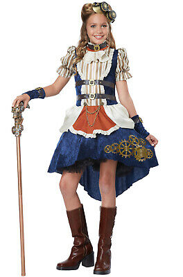 Brand New Steampunk Fashion Girl Tween Costume - Girls Steampunk Costume