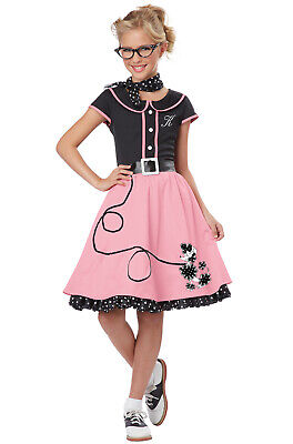 Brand New 50's Sweetheart Poodle Skirt Grease Dress Outfit Child Costume 50s Poodle Outfit Skirt