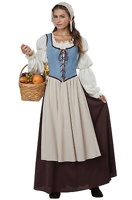 Medieval Renaissance Faire Peasant Girl Adult Costume](Goth Girl Costumes)