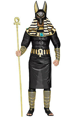 Egyptian Pharoah Costume (Brand New Egyptian Ancient God Pharoah Anubis Adult)
