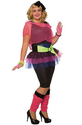 Retro 80's Girl Plus Size Costume - Girls Plus Size Halloween Costumes