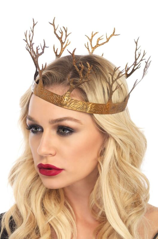 Medieval Renaissance Queen Metal Fantasy Forest Crown